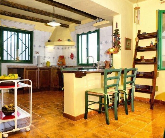 Eco-casita Alcairon - Keuken