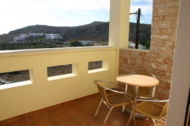 Appartementen Lindos Horizon - balkon