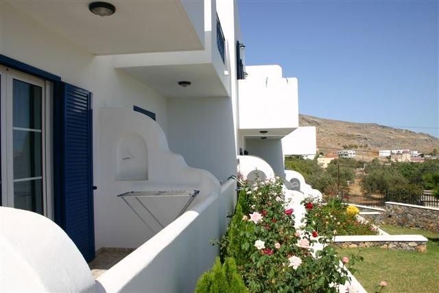 Appartementen Lindian Myth - balkon