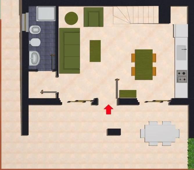 Appartementen Dei Margi -  plattegrond appartement