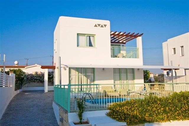 Villa Meltemi - voorkant villa