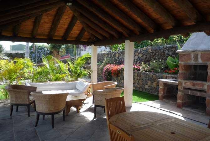 Appartementen San Diego - zitje en barbecue