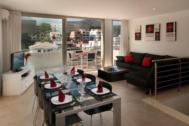 Appartementen Cala Molins - woonkamer