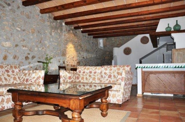 Hotel Rural Siurana - casita woonkamer